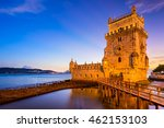 belem tower on the tagus river... | Shutterstock . vector #462153103