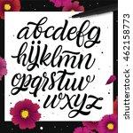 hand lettering script font. | Shutterstock .eps vector #462158773