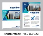 blue brochure layout design... | Shutterstock .eps vector #462161923