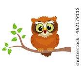 vector illustration of an owl... | Shutterstock .eps vector #462179113