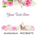 vintage floral card. beautiful... | Shutterstock . vector #462186673