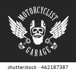 vector emblem retro... | Shutterstock .eps vector #462187387