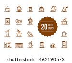 coffee icons. coffee outline... | Shutterstock .eps vector #462190573