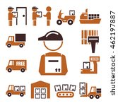 shipping  logistics icon set | Shutterstock .eps vector #462197887