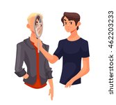 concept of empathy ... | Shutterstock .eps vector #462203233