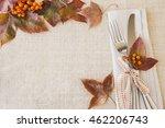 thanksgiving autumn fall table... | Shutterstock . vector #462206743