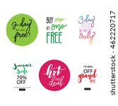 sale banner for discount and... | Shutterstock .eps vector #462220717