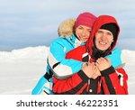 beautiful couple enjoying... | Shutterstock . vector #46222351