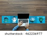 business concept  analysis... | Shutterstock . vector #462236977