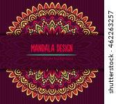 vector mandala decor for your... | Shutterstock .eps vector #462263257