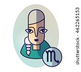 scorpio zodiac sign. vector... | Shutterstock .eps vector #462265153