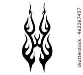 black tribal flames for tattoo... | Shutterstock .eps vector #462267457