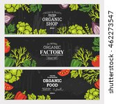 sketchy vegetables banner... | Shutterstock .eps vector #462273547