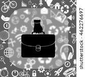hand holding briefcase vector... | Shutterstock .eps vector #462276697