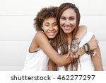 two young afro girls having fun ...   Shutterstock . vector #462277297