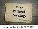 Small photo of Top 500 Bible verses. Pray without ceasing. 1 Thessalonians 5:17