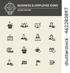 management  businessman icon... | Shutterstock .eps vector #462283897