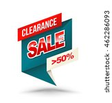 origami banner clearance sale... | Shutterstock .eps vector #462286093