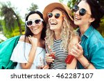 happiness youth friendship... | Shutterstock . vector #462287107