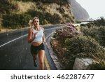 fitness woman running on... | Shutterstock . vector #462287677