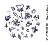 set of floral  design elements... | Shutterstock .eps vector #462308617