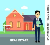 real estate realtor on the... | Shutterstock .eps vector #462312883