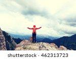 cheering successful woman... | Shutterstock . vector #462313723