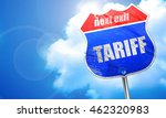 tariff  3d rendering  blue...