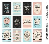 set of modern calligraphic... | Shutterstock .eps vector #462323587