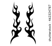 black tribal flames for tattoo... | Shutterstock .eps vector #462324787