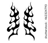 black tribal flames for tattoo... | Shutterstock .eps vector #462324793