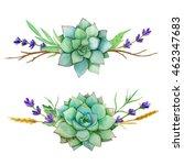 horizontal watercolor sets of... | Shutterstock . vector #462347683