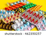 medicine green and yellow pills