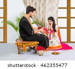 indian brother and sister... | Shutterstock . vector #462355477