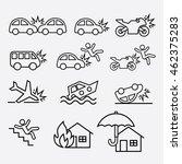 set of insurance outline icon....   Shutterstock .eps vector #462375283