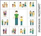 family icon set | Shutterstock .eps vector #462376897