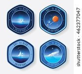 universe logo badges in... | Shutterstock .eps vector #462377047