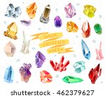 crystals and stones isolated... | Shutterstock .eps vector #462379627