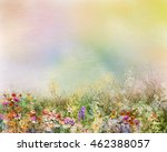 abstract oil painting flowers... | Shutterstock . vector #462388057