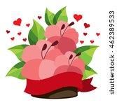 hibiscus bouquet logo. design... | Shutterstock .eps vector #462389533