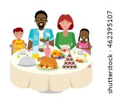 happy multicultural family... | Shutterstock . vector #462395107