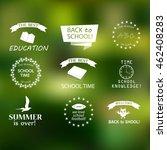 back to school typographic... | Shutterstock .eps vector #462408283