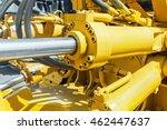 hydraulics tractor yellow.... | Shutterstock . vector #462447637