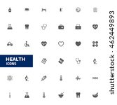 medical icon set. health care... | Shutterstock .eps vector #462449893