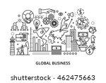 modern flat thin line design... | Shutterstock .eps vector #462475663