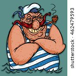 ������, ������: Funny captain sailor