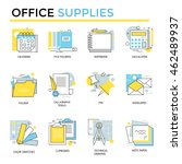 office supplies icons  thin... | Shutterstock .eps vector #462489937