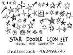 star doodles  hand drawn vector ... | Shutterstock .eps vector #462496747
