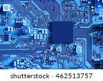 electronic circuit board close... | Shutterstock . vector #462513757