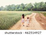 children happy outdoors. | Shutterstock . vector #462514927